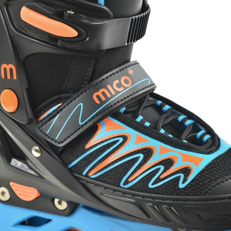 Rulluisud Mico Plus City Boy PW-153B-5A Black/Blue, 40-43