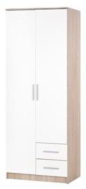 Riidekapp Halmar Lima S-2 White, 80x52x205 cm