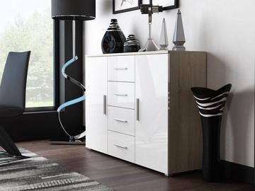 Комод Cama Meble Uni Sonoma Oak/White, 132x38x92 см