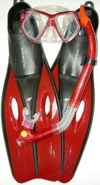 Rucanor Insula Snorkel Set Red