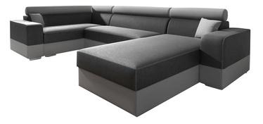 Nurgadiivan Idzczak Meble Infinity Super Grey/Light Grey, vasak, 332 x 185 x 93 cm