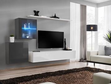 ASM Switch XV Living Room Wall Unit Set White/Graphite