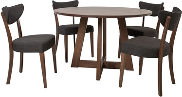 Home4You Adele Dining Room Set 4 Chairs Beech