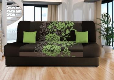Диван-кровать Platan Jas Kwiaty Green, 188 x 85 x 90 см