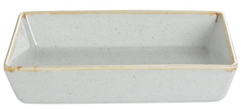 Porland Seasons Serving Plate With Edges 13.73x8.54cm Grey