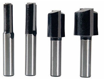 Leman Straight Router Bit Set 8mm 4 pcs