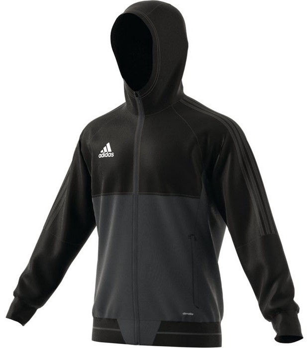 Adidas Tiro 17 Presentation Jacket AY2856 Black Grey S