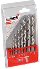 Kreator Metal HSS Drill Set 1 - 10mm 10PCS
