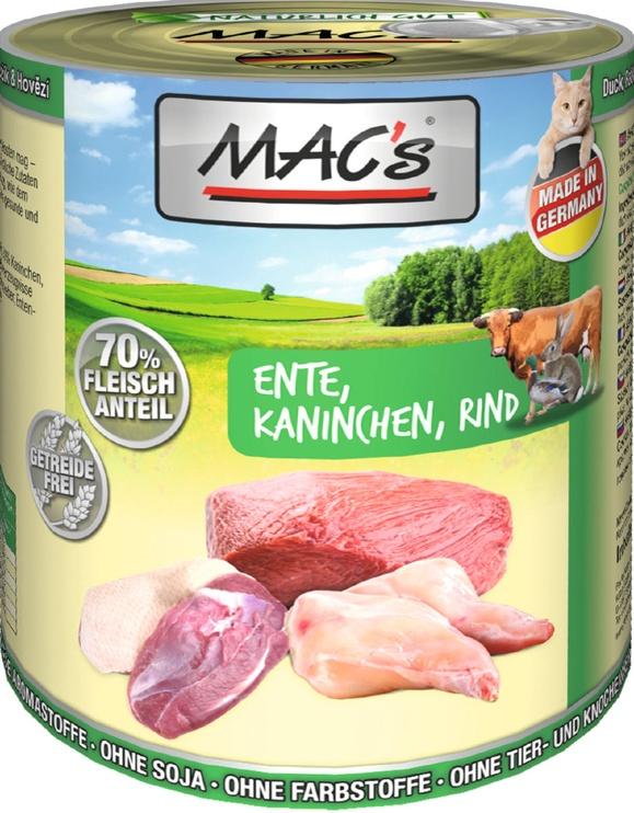 Mac's Cat Duck Rabbit & Beef 800g
