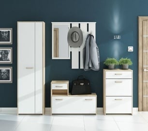 ML Meble Hallway Unit Orlando III White/Sonoma Oak