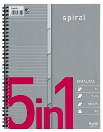 Bantex Spiral Notepad 5 In 1 75pages