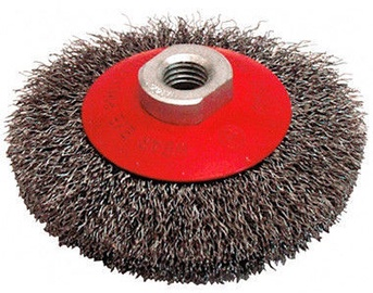 Leman Bevel Brush With Crimped Steel Wire M14 100mm