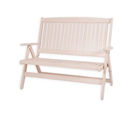 Folkland Timber Folding Garden Bench Bavaria White