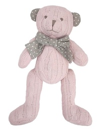 Beppe Plush Teddy Bear Pink 20cm 13300