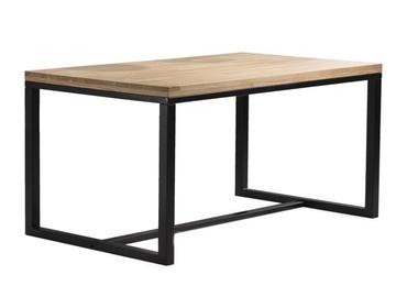 Söögilaud Signal Meble Loras Oak/Black, 1800x900x750 mm