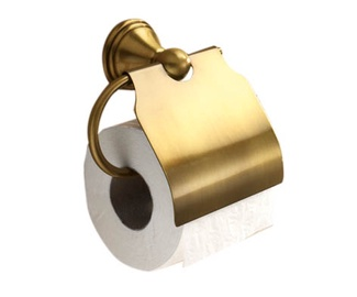 WC-paberihoidja kaanega Gedy Romance pronks