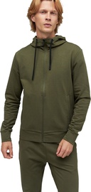 Audimas Stretch Cotton Hoodie Olive Night XL