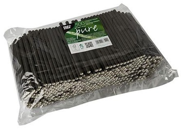 Pap Star Paper Straws D0.7mm 15cm Black 500pcs