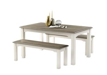 Söögitoa komplekt MN Dorset White/Grey