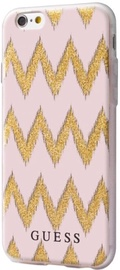 Guess Chevron 3D Effect Back Case For Apple iPhone 6/6s Pink