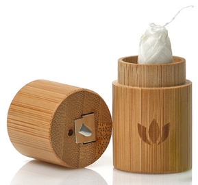 Naturbrush Biodegradable Dental Floss With Bamboo Case 2pcs Set