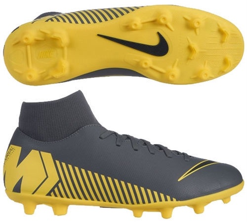 Nike Mercurial Superfly 6 Club MG AH7363 070 Gray/Yellow 41