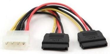 Gembird Cable Molex to SATAx2 0.3m