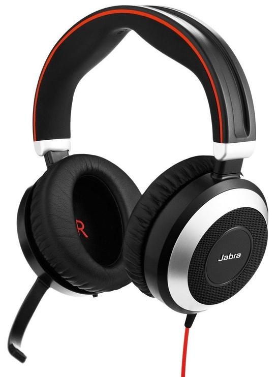 Kõrvaklapid Jabra Evolve 80 Duo Black/Red