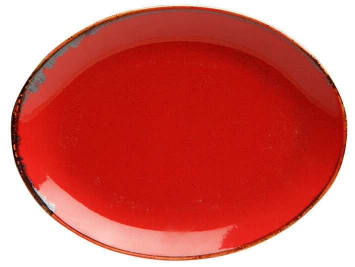 Porland Seasons Oval Plate 23.7x31cm Red