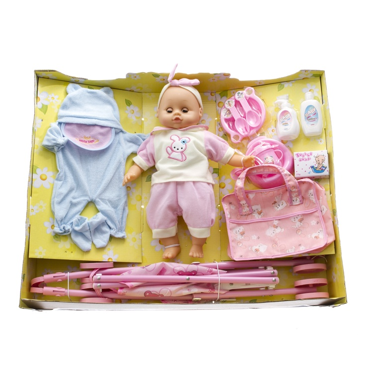 Nukk Lovley Toys Baby Carriage Set Assort