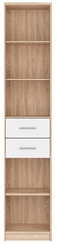 Black Red White Office Bookshelf Nepo Plus Sonoma Oak/White