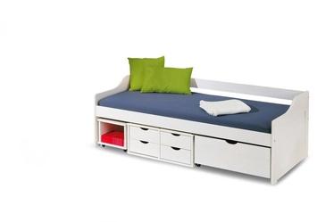 Детская кровать Halmar Floro 2, белый, 209x96 см