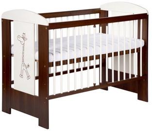Детская кровать Klups Safari Giraffe Cream/Walnut, 124x66 см