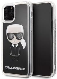 Karl Lagerfeld Iconic Glitter Back Case For Apple iPhone 11 Pro Black