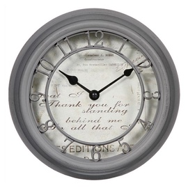 Atmosphera Wall Clock Romance 137316 D21.5cm Grey