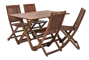 Home4you Modena Table And Four Chairs Set Shorea