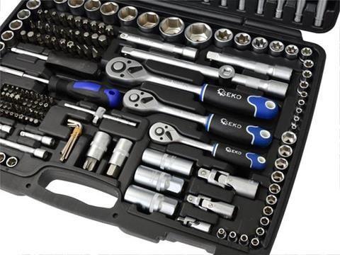 Geko Mechanics Tools Set Polished CrV 216pcs