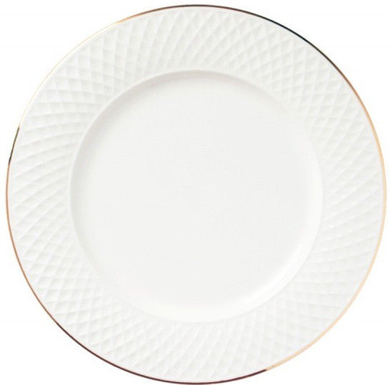 Quality Ceramic E Clat Dinner Plate Gold 27cm