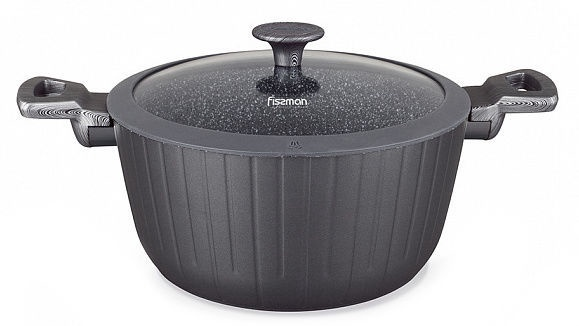 Fissman Midnight Sydney Casserole With Glass Lid D24cm 4.4l