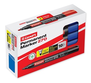 Luxor Permanent Marker Blue 10pcs 270
