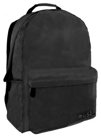 Must Monochrome 2 Compartments Backpack Ripstop Black