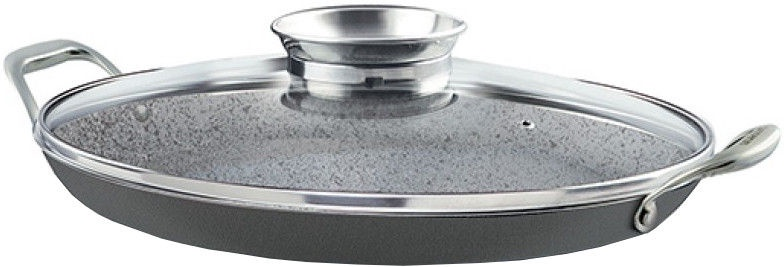 Pensofal Oval Fry Pan 36cm With Inox Side Handles/Glass Lid 5520
