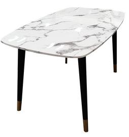 Обеденный стол MN 3059034 Black/White, 1400x800x760 мм