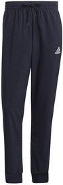 Adidas Essentials French Terry Tapered Cuff 3-Stripes Joggers GK8981 Navy M
