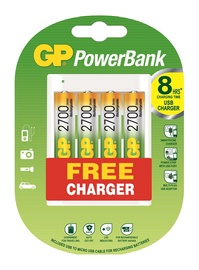 GP Battery Charger U411 With 4xAA Bateries