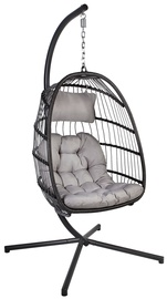 Home4you Yoyo Hanging Chair With Pillow Grey