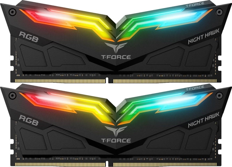 Team Group T-Force Nighthawk RGB Black 16GB 3200MHz CL16 DDR4 KIT OF 2 TF1D416G3200HC16CDC01