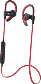ipipoo iL98BL Bluetooth In-Ear Earphones Red
