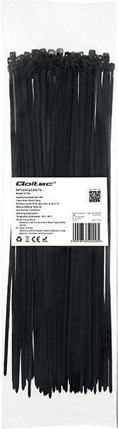Qoltec Zippers Nylon UV 3.6x300mm 100pcs. Black