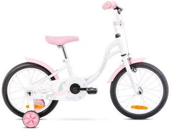"""Laste jalgratas Romet 2116057 2021, valge/roosa, 16"""""""